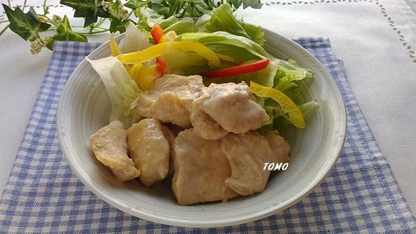 鶏むね肉の鱈しょっつるマヨ炒め
