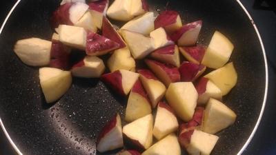 さつま芋と豚肉の炊き込みご飯1