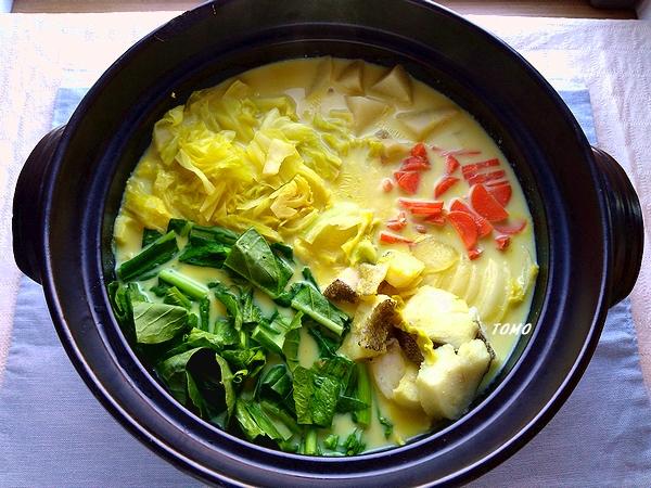 鱈のカレー豆乳鍋