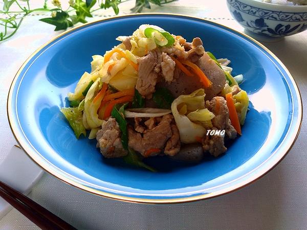 豚肉とこんにゃくの味噌生姜炒め