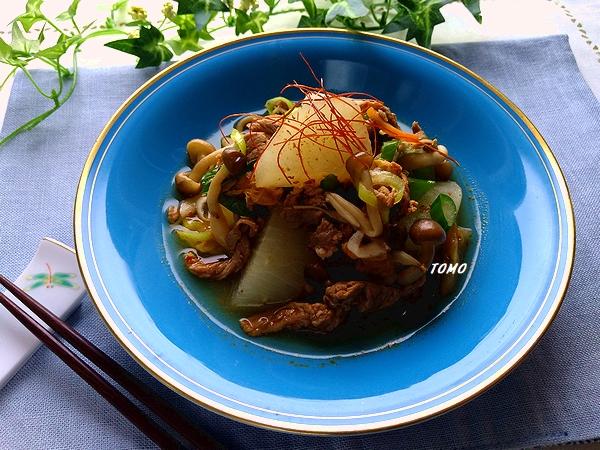 大根と牛肉のキムチ煮