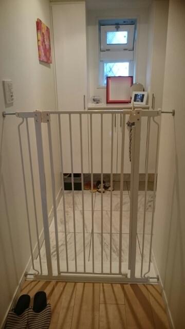 玄関 我が家 110センチペットゲート