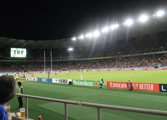 ラグビーWC南アフリカVSイタリア