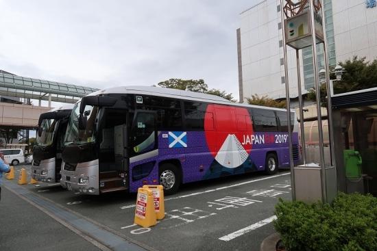 ラグビーWC2019 スコットランドのバス