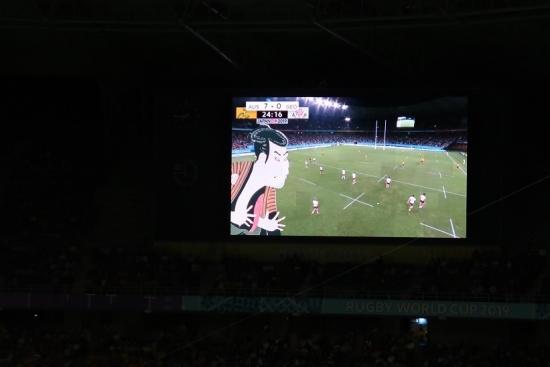 ラグビーWC2019静岡エコパスタジアム いよお~~!