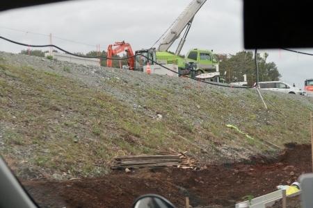 高速道路建設中