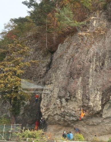会津 ロッククライミング