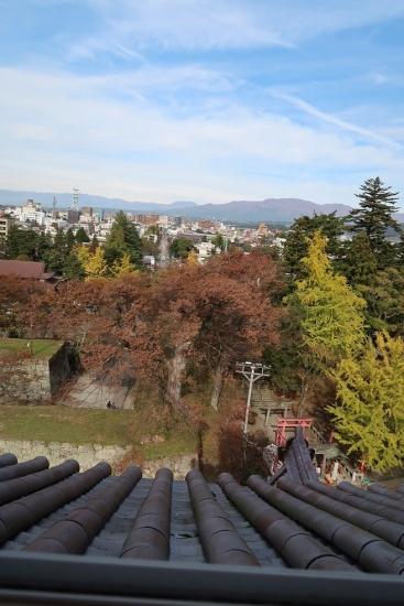 鶴ヶ城 第四層からの眺め