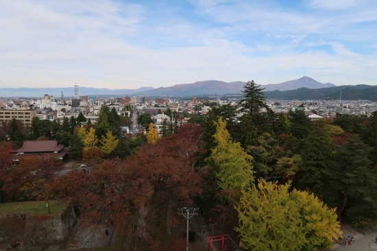 鶴ヶ城第五層からの眺め