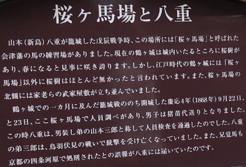 鶴ヶ城 桜ヶ馬場と八重