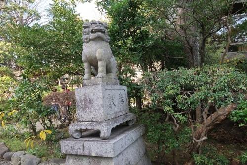 小田原城 二宮神社 狛犬