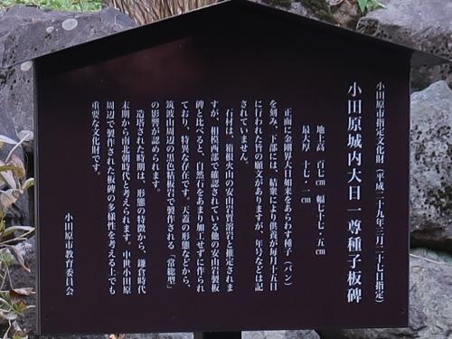 小田原城内大日一徳種子板碑