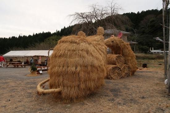 藁の干支 ねずみ