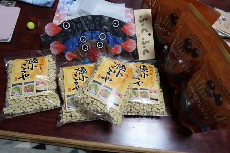 フグ風船と高野豆腐