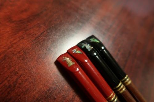 会津塗りのお箸