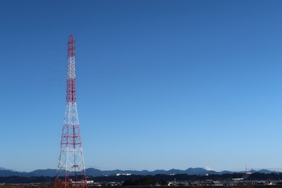 天竜川から富士山