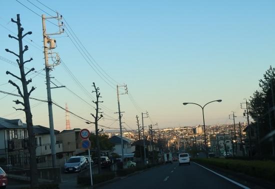 街を見下ろす道