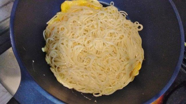 ソーメンゴーヤ炒め (3)