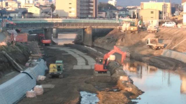逢瀬川のコサギ翔 (5)