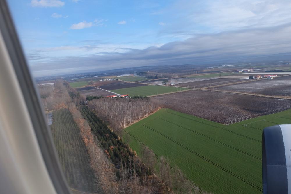 2019-11-24 北海道 01 飛行機から見た景色