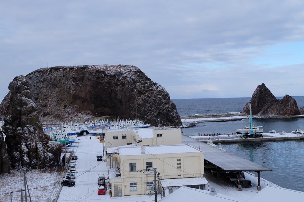 2019-11-29 部屋から見るゴジラ岩