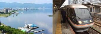 461-340温泉と列車