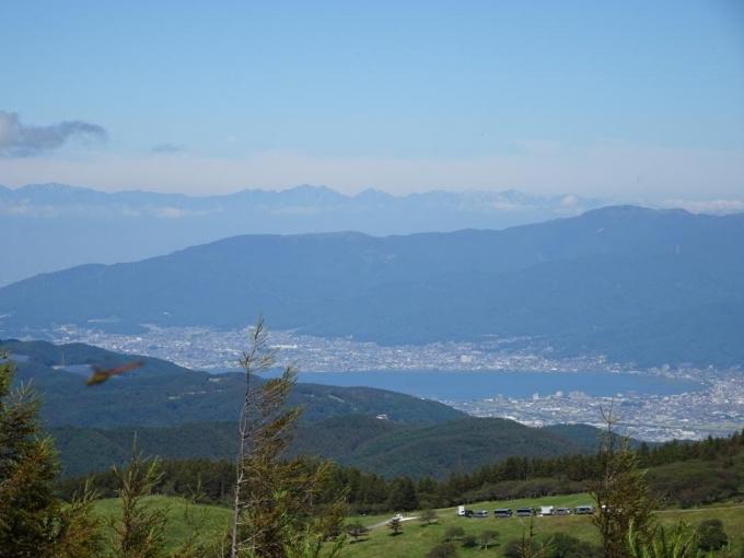 諏訪湖と後立山連峰