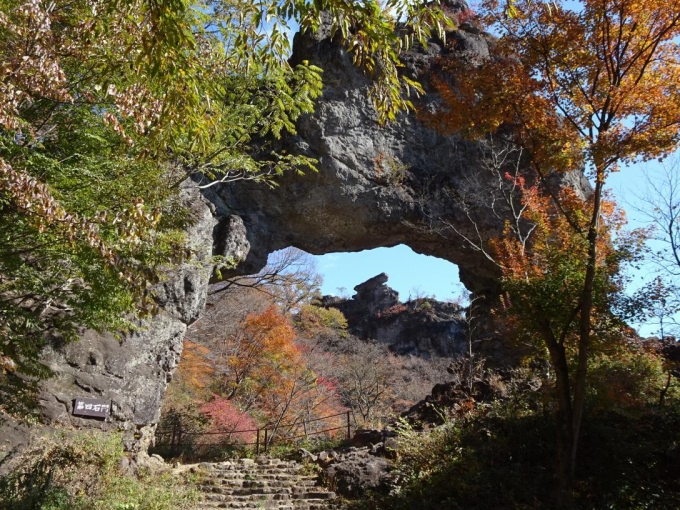 第四石門と大砲岩