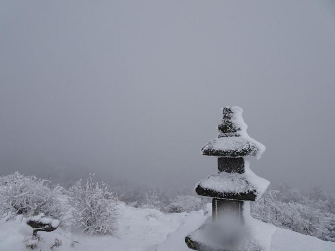 山頂部は真っ白