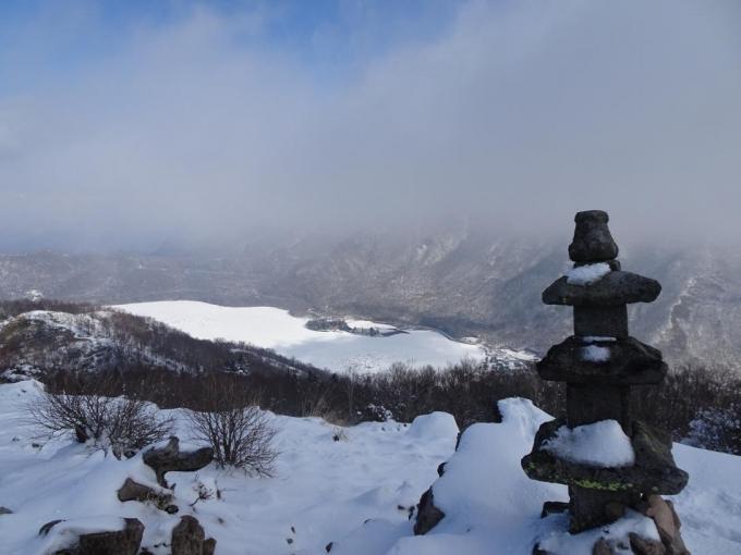 黒檜山は雲の中