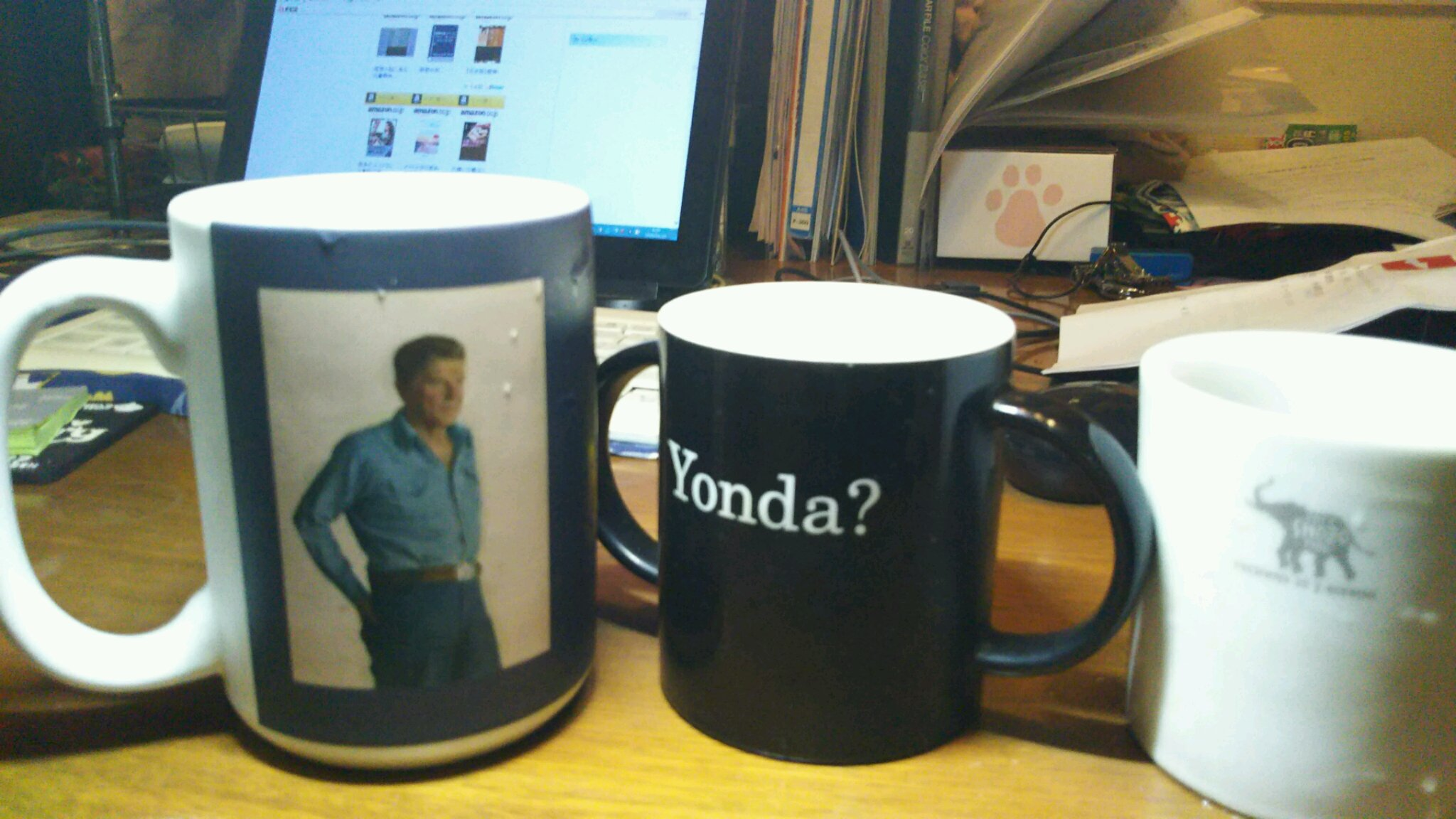 ヨンダ。レーガン。マグカップ。