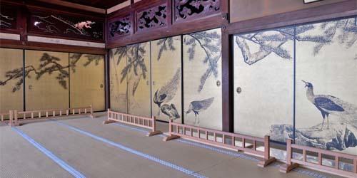 大乗寺―松に孔雀図