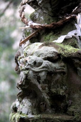 瀧山神社の狛わんこ