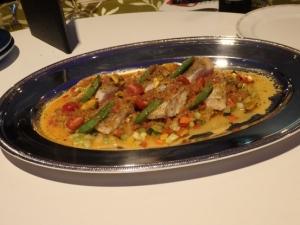 白身魚のヴァブール・彩り野菜添え