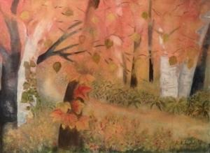 呉美術協会賞「紅葉の木々達のパラダイス」中塩恵子