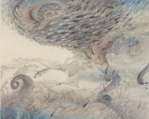 木下千春「渦巻く」日本美術院(大観賞)