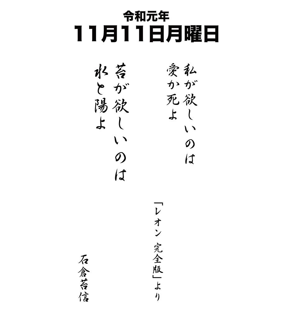 令和元年11月11日