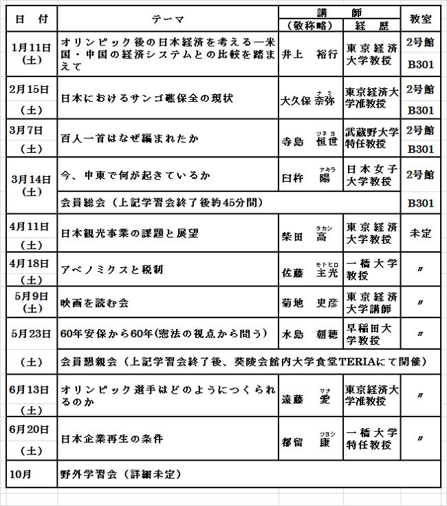 2019年11月会報スケジュール3