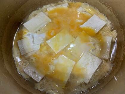お豆腐の卵とじ