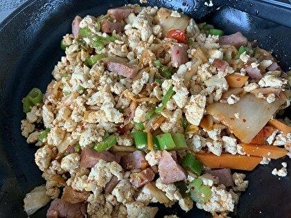 お豆腐キムチチャーハン