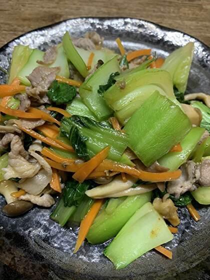 豚肉と青梗菜の塩炒め