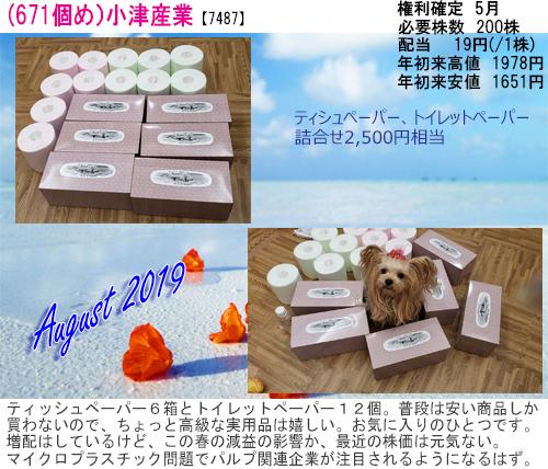 (671)2019年08月到着 小津産業