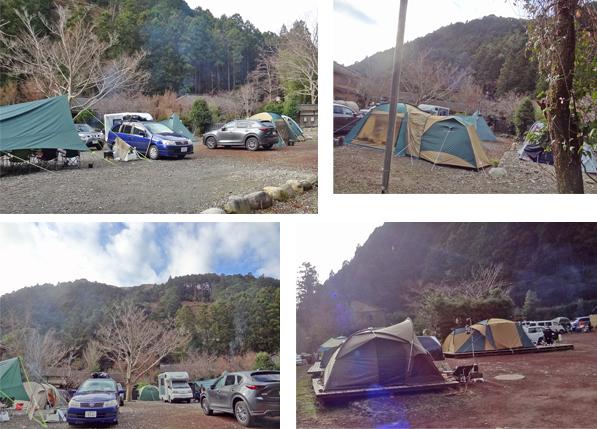 2019年12月30日からの正月旅行-2019年12月31日⑥ 河津七滝到着 (1)キャンプ場入口びっくり全サイト予約いっぱい
