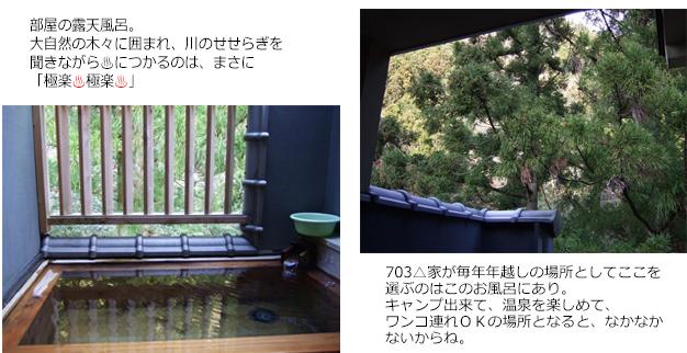(blos)2019年12月30日からの正月旅行-2019年12月31日⑥ 河津七滝到着 (6)部屋の露天風呂