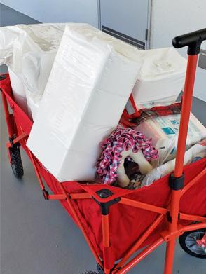 2020年02月08日支援品搬送②準備編 カートで運ぶ