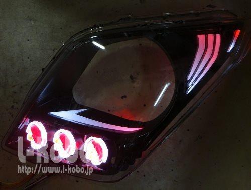 ワゴンRヘッドライト加工