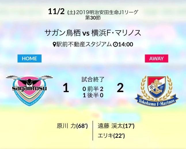 ホーム横浜戦結果