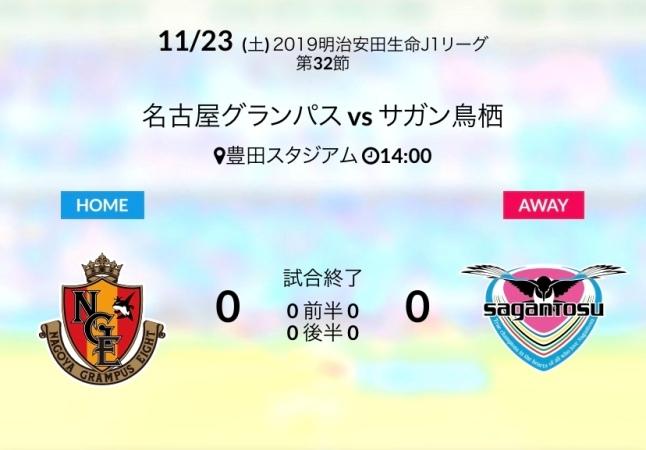 ホーム名古屋戦結果