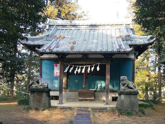 将軍塚古墳上の神社
