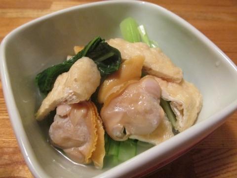 ホンビノス貝と小松菜のおひたし3